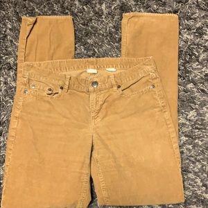 J Crew City Fit brown corduroy Jeans. 28R. EUC